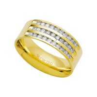 Alliance Anatomic 18k Gold 750 with 30 brilliant 2.25 Points Width 7.50mm Height 1.80mm