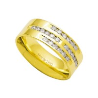 Alliance Anatomic 18k Gold 750 with 24 brilliant 2.25 Points Width 7.50mm Height 1.80mm