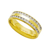 Alliance Anatomic 18k Gold 750 with 30 brilliant 2.25 Points Width 5.00mm Height 1.50mm