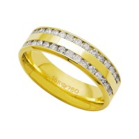 Alliance Anatomic 18k Gold 750 with 30 brilliant 2.25 Points Width 6.00mm Height 1.80mm