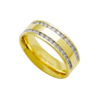 Alliance Anatomic 18k Gold 750 with 30 brilliant 2.25 Points Width 7.00mm Height 1.80mm