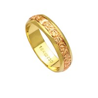 Alliance Gold 18k Gold 750 and Red Width 5.00mm Height 1.10mm