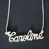 Silver 925 Venetian Necklace 50cm with Custom Name Pendant