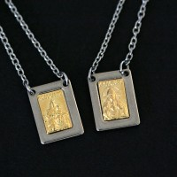 Scapular Steel with Gold