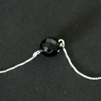 925 Silver Necklace with Onyx Stones