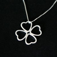 925 Silver Clover Necklace Collection Mother's Day 45cm