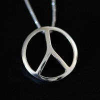Necklace Silver Peace Symbol Collection Summer