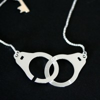 Necklace Silver Handcuffs and Key Summer Collection