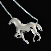 Necklace Silver Horse and Horseshoe Summer Collection