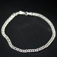 Brazalete de plata 925 enlaces de 22 cm / 4 mm