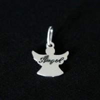 925 Silver Pendant Angel Aged