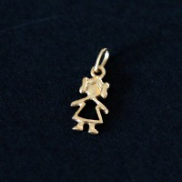 Pendant 18k Gold Hollow Girl