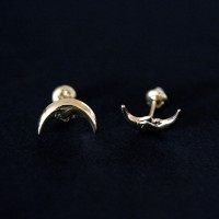 Earring 18k Gold Moon
