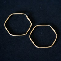 Earring 18k Gold Ring 0750