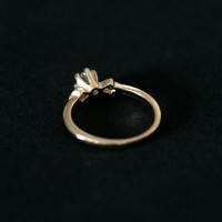 Semi Clad Solitaire Ring Jewelry Falange