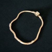 Semi Bracelet Jewelry Gold Plated Tail Rat Life Moments 20cm / 4mm