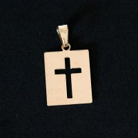 Semi Pendant Jewelry Gold Plated Cross