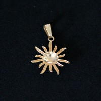 Pendant Gold Plated Jewelry Semi Sunbeam