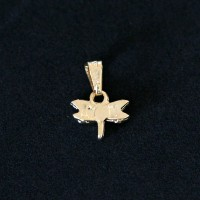 Semi Pendant Jewelry Gold Plated Dragonfly