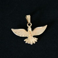 Semi Pendant Jewelry Gold Plated Dove of Peace