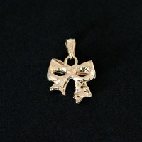 Semi Pendant Jewelry Gold Plated Tie with Zirconia Stones