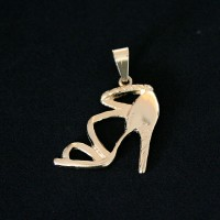 Semi Pendant Jewelry Gold Plated Shoe Brigitte