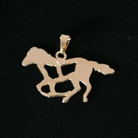 Semi Pendant Jewelry Gold Plated Horse
