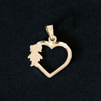 Semi Pendant Jewelry Plated Gold Girl Love Mama
