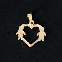 Semi Pendant Jewelry Gold Plated Love Mama Two Boys