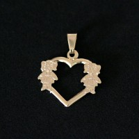 Semi Pendant Jewelry Gold Plated Love Mama Two Girls
