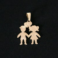 Pendant Gold Plated Jewelry Semi Siblings