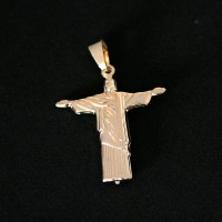 Pendant Gold Plated Jewelry Semi Christ the Redeemer