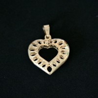 Semi Pendant Jewelry Gold Plated My Heart