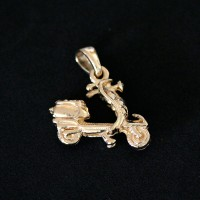 Semi Pendant Jewelry Gold Plated Bike