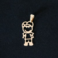 Semi Pendant Jewelry Gold Plated Boy