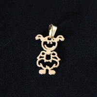 Semi Pendant Jewelry Gold Plated Girl
