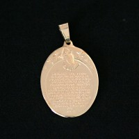 Semi Pendant Jewelry Gold Plated Our Father Prayer