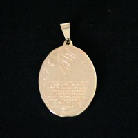 Semi Pendant Jewelry Gold Plated Prayer Ave Maria