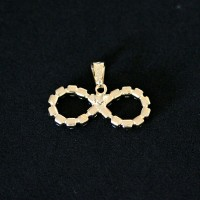 Semi Pendant Jewelry Infinito Gold Plated with Zirconia Stones