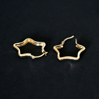 Semi Earring Jewelry Gold Plated Small Star