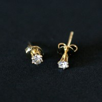 Earring Gold Plated Jewelry Semi Slim