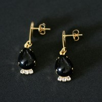 Earring Gold Plated Jewelry Semi Brightness
