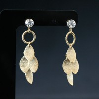 Earring Gold Plated Jewelry Semi Lights