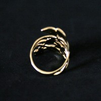 Semi Ring Jewelry Gold Plated Vine