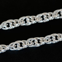 Chain Silver 925 Twisted 45cm / 5mm