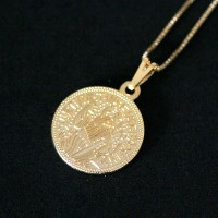 Semi Necklace Jewelry Gold Plated Saint Benedict 50cm