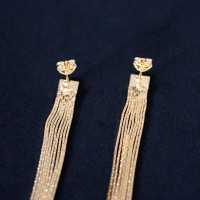 Earring Gold Plated Jewelry Semi Long