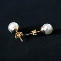 Earring Gold Plated Jewelry Semi Pearl