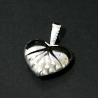 Pendant Silver 925 Heart with details