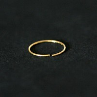 Piercing 18k Gold Plated Nose Ring Nostril 0.5mm x 10mm